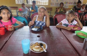 Children being fed