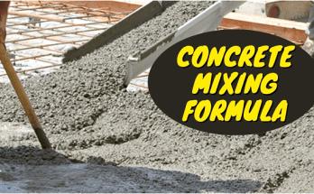 Concrete Mixing Formula