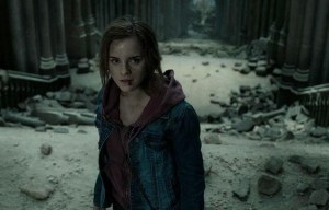 Emma Watson faces off against her enemies as Hermione Granger in Harry Potter and the Deathly Hallows - Part 2.