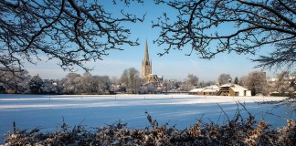 Norwich in snow. Photo: Michael Boulton, Flickr