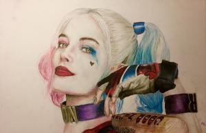 Harley Quinn illustration by Murray Lewis.