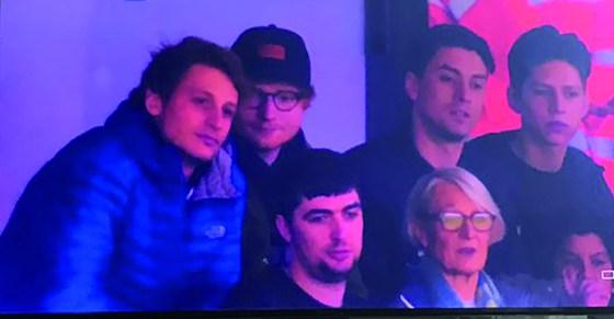 Spotted: Ed Sheeran at Carrow Road