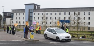 Photograph by Matt Nixon of the UEA picket.