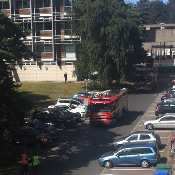 Library evacuated and fire services called