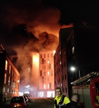 An accommodation house in Bolton was on fire