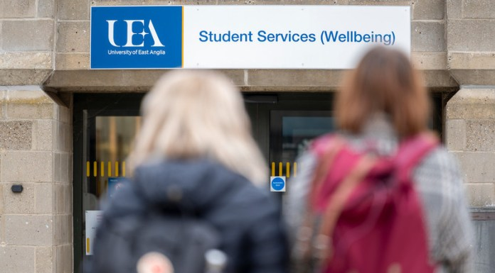 student services UEA mental health wellbeing