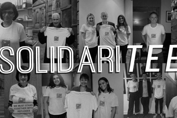 Standing in 'SolidariTee'