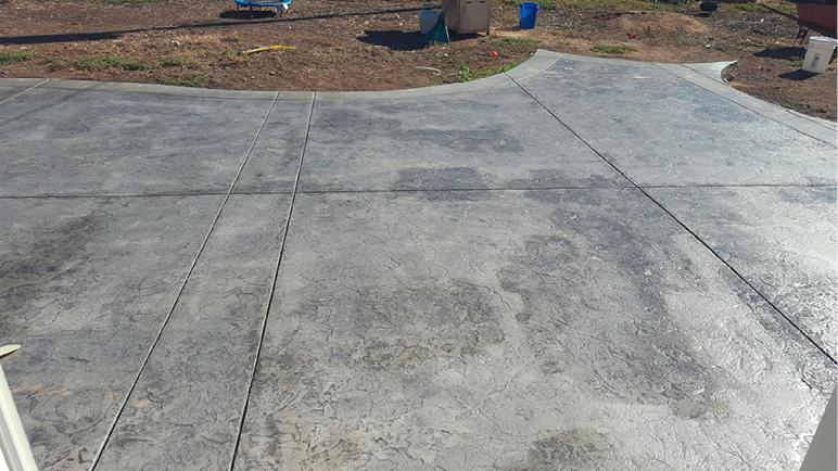 seal concrete for a uniform appearance