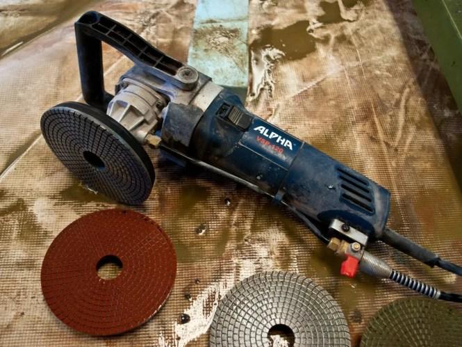 concrete countertop grinding tools bstcountertops. Black Bedroom Furniture Sets. Home Design Ideas