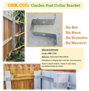 The Collar Bracket for concrete fence posts.