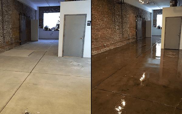clear coat concrete flooring