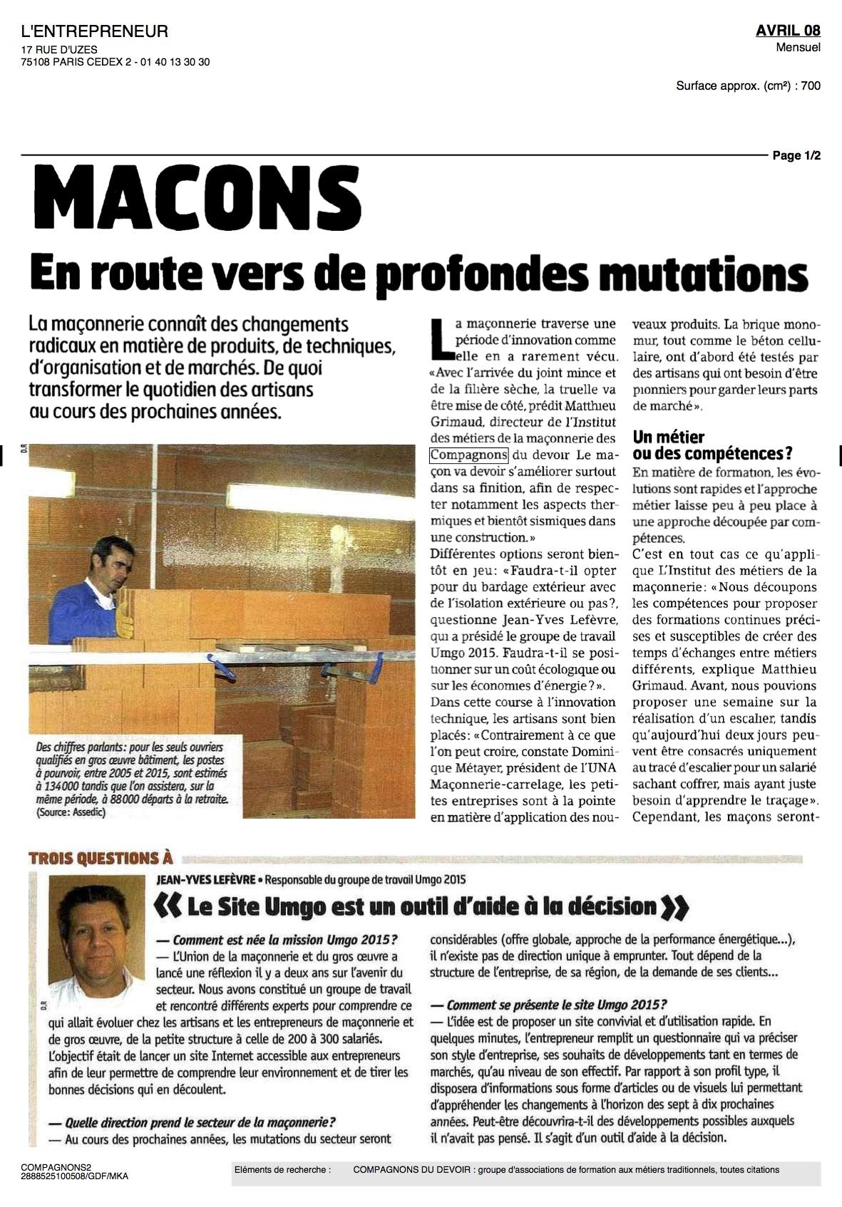 2008-04-10~Magazine l'ENTREPRENEUR