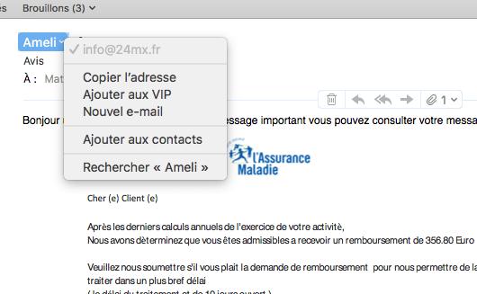 pièges adresse mail