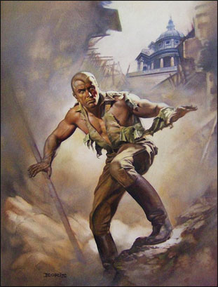 Doc Savage, as painted by Boris Vallejo.