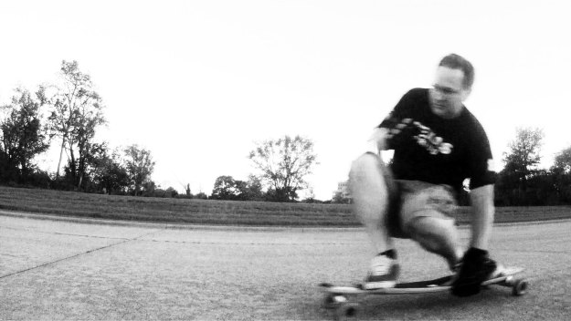 Another video still, changed to B&W and monkeyed with the contrast.