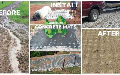 How to fix a washed-out gravel driveway using concrete erosion mats