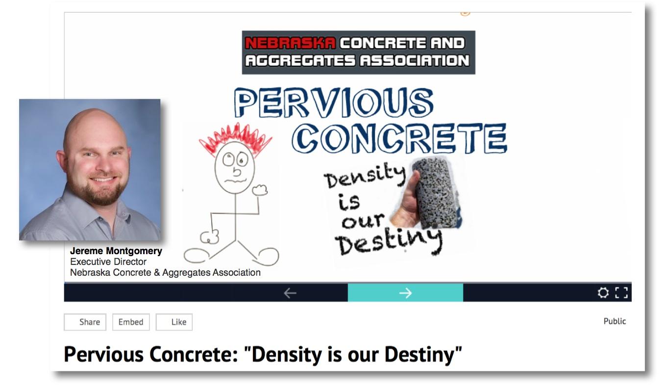 Presentation, Videos & Twitter Exhibit Unique Concrete Pavement Attributes & Construction Methods