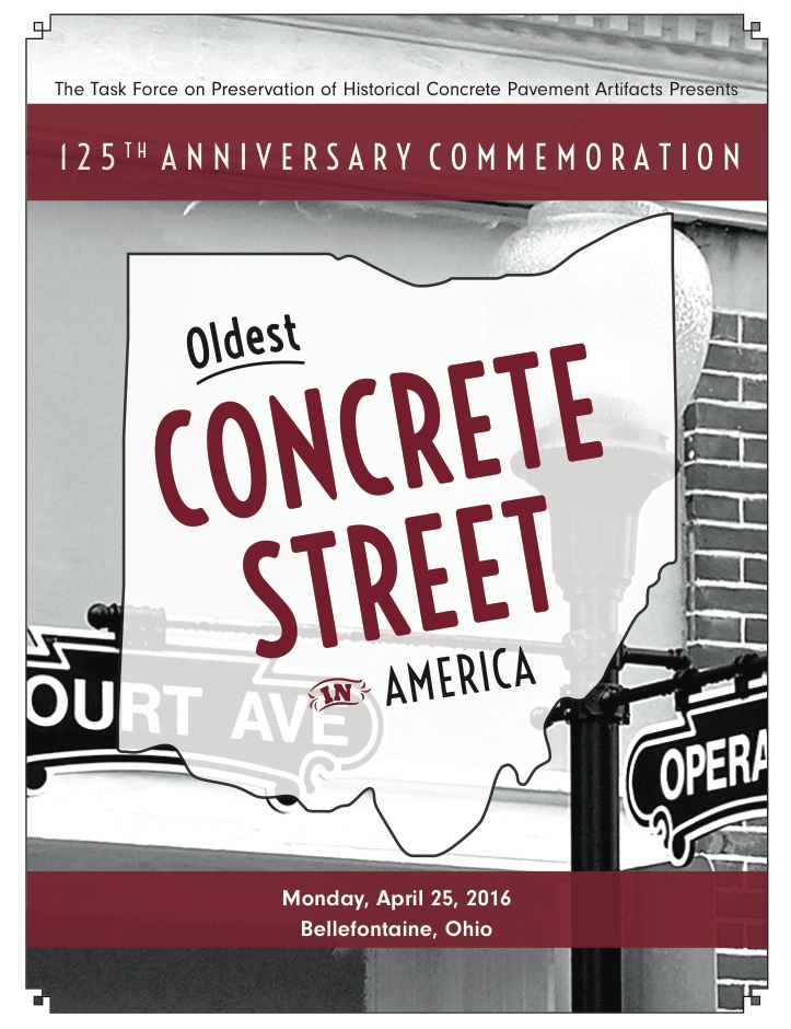 Commemorative Program Now Available: 125th Anniversary Tour of the Oldest Concrete Street in America