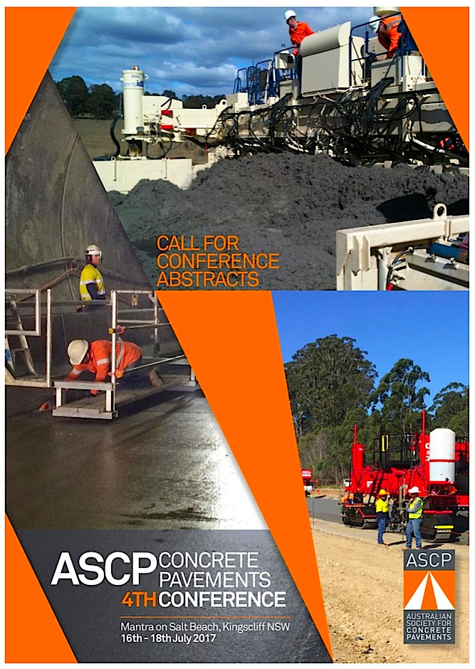 Australia: Call for Abstracts: ASCP 4th Concrete Pavements Conference
