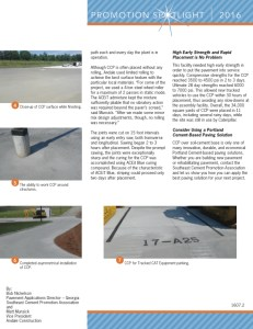 New Paving Technology: CCP—RCC Benefits with Traditional