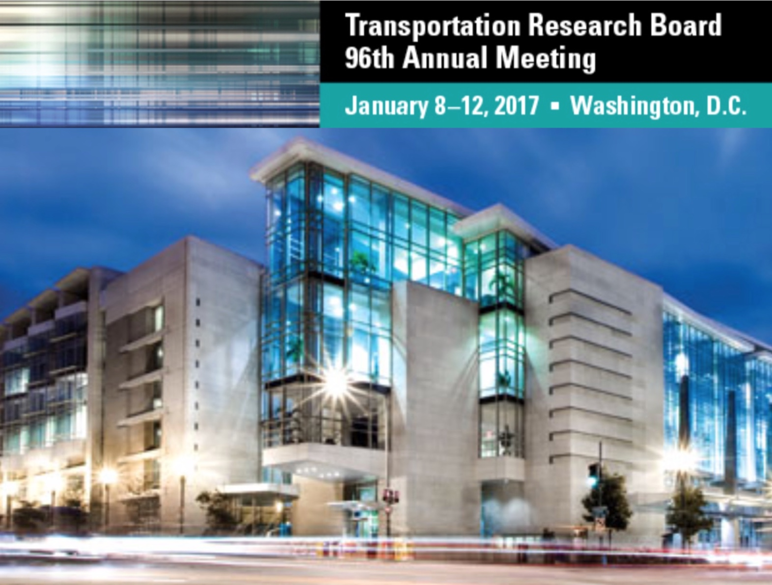 TRB 96th Annual Meeting to be Held January 8-12, 2017