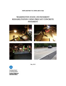 FHWA Report Details Washington Interstate PCP Project: Pre