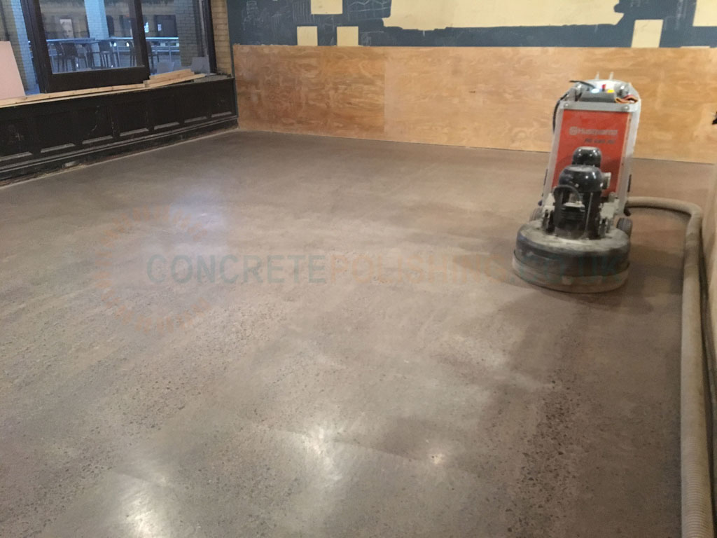 Polished Concrete Floor Restaurant Liverpool