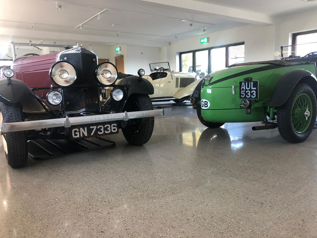 Polished Concrete Classic Car Showroom