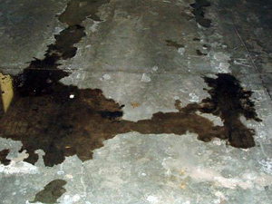 Liquid Spill on Concrete Floor
