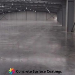 A polished concrete floor in a warehouse