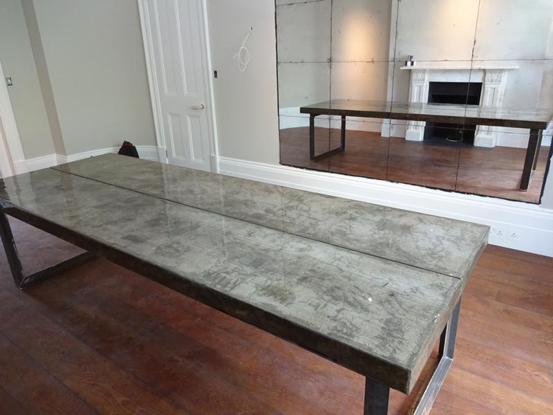 Concrete Dining Table H Amp H Bespoke Concrete Top Tables