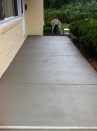After New Concrete Patio Installation in NJ
