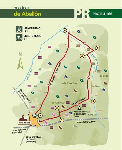 Mapa sendero PR-BU-166
