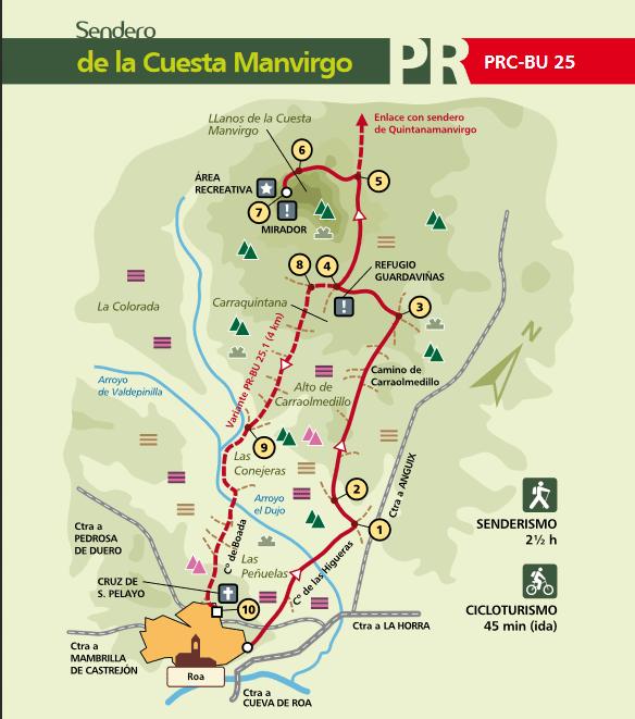 Mapa sendero PRC-BU-25