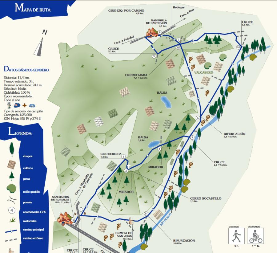 Mapa sendero PR-BU-81