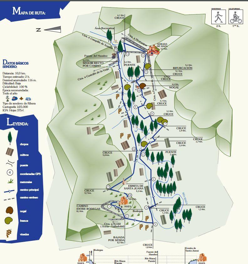 Mapa sendero PR-BU 79