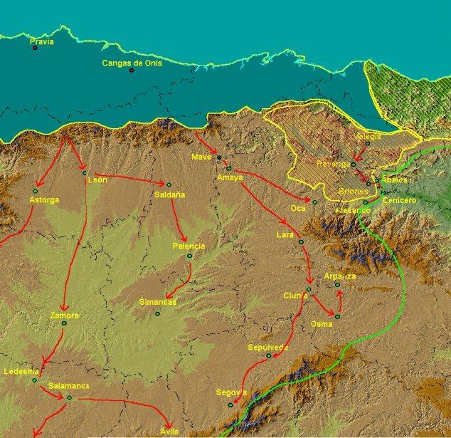 Campañas de Alfonso I por la meseta norte
