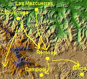 Posibles rutas de los foramontanos (814)