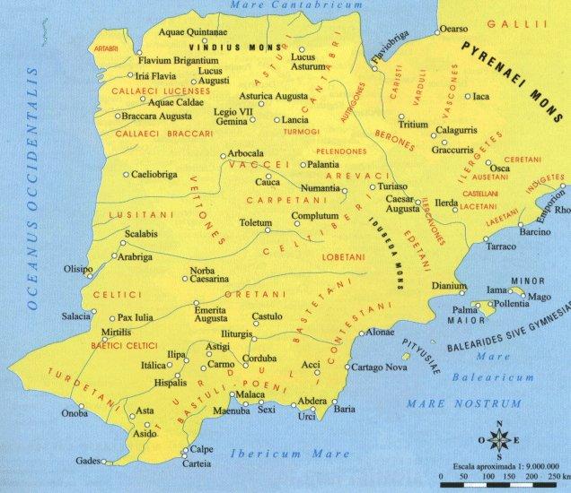 Hispania según Ptolomeo