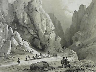 Desfiladero de Pancorbo en el siglo XIX