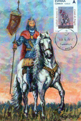 Galindo II Aznárez según el pintor Antonio Callaved