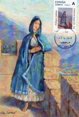 Andregoto Galíndez. Pintura de Antonio Callaved
