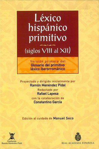 Léxico hispánico primitivo Book Cover