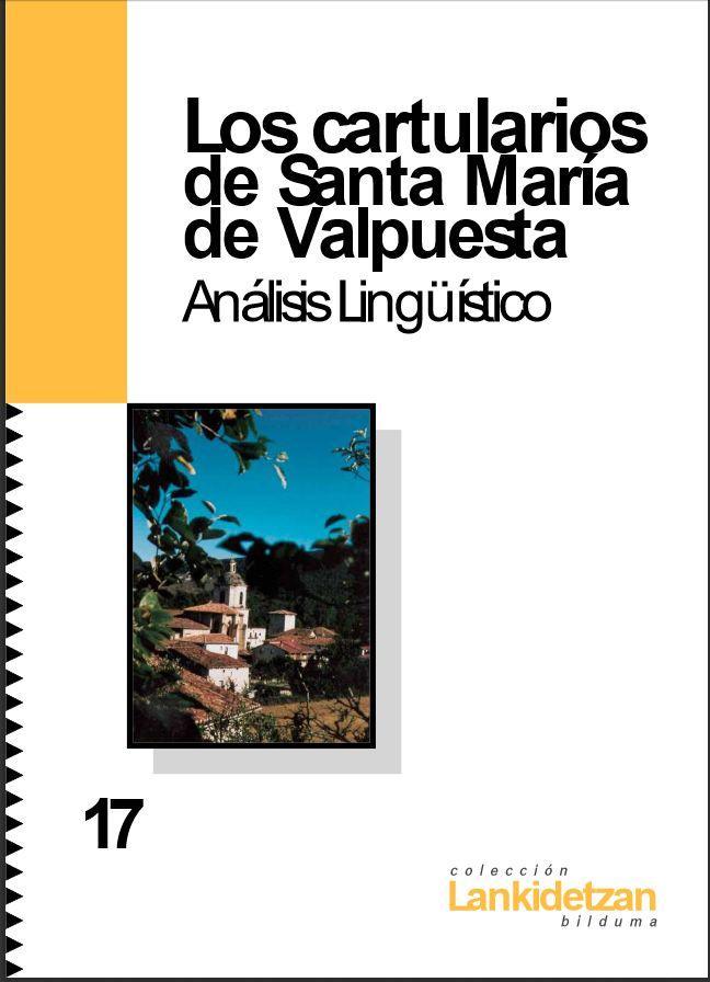 Cartularios de Santa María De Valpuesta. Análisis Lingüístico Book Cover