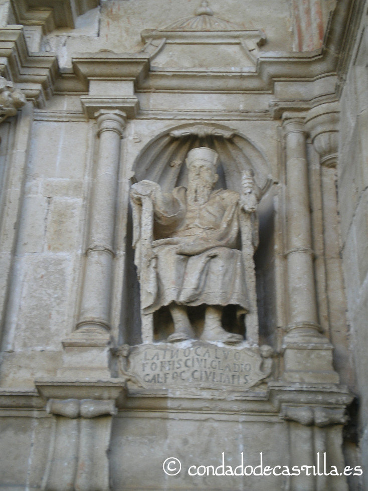 Estatua de Laín Calvo en Bisjueces