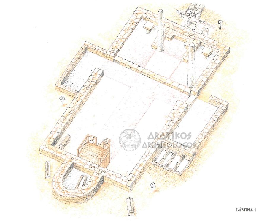Plano de Santa María de Mijangos y necrópolis. ©Aratikos