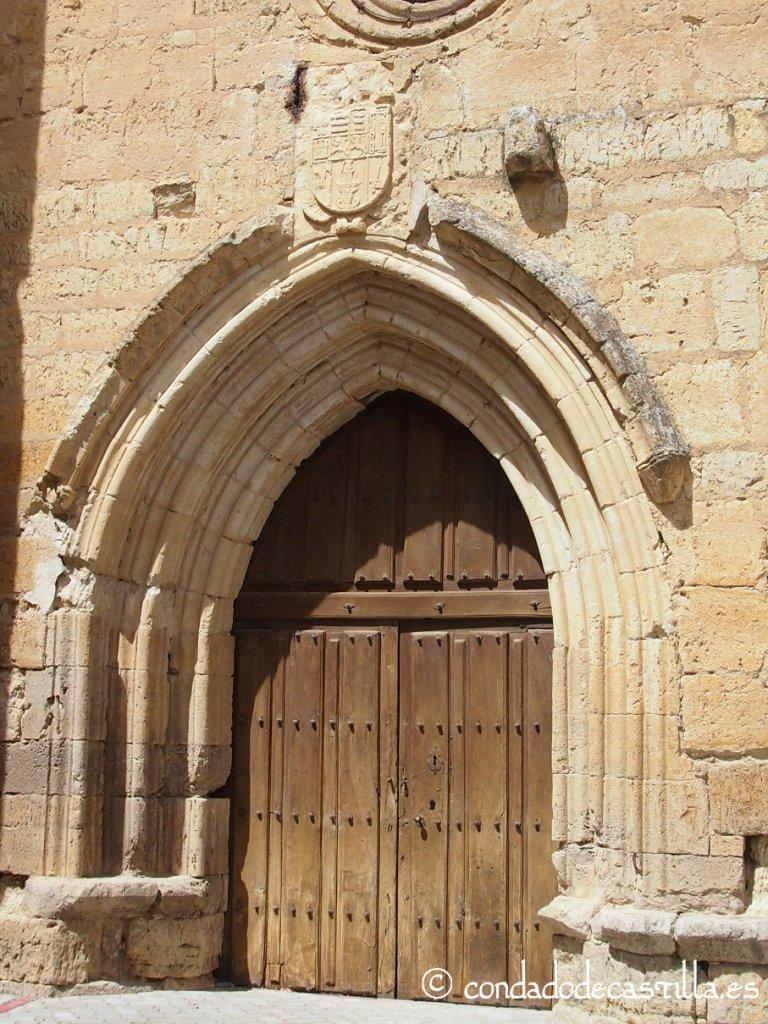 Portada de la iglesia de San Miguel de Támara de Campos
