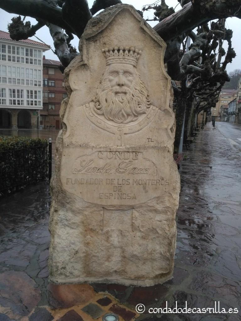 Monumento a Sancho García en Espinosa de los Monteros