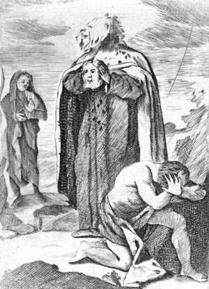 """Grabado ubicado en la obra de Lucas Antonio Güemes, """"Historia de la vida, sepulcro, reliquias y congregación del ínclito mártir San Vítores""""."""