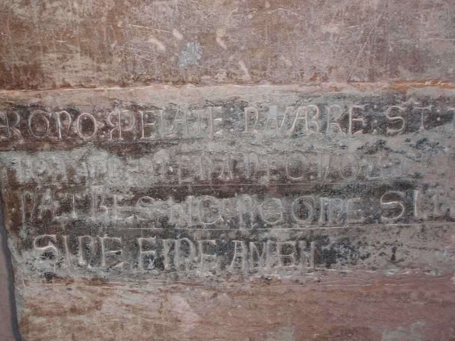 Inscripción del sepulcro de la reina Toda en San Millán de la Cogolla